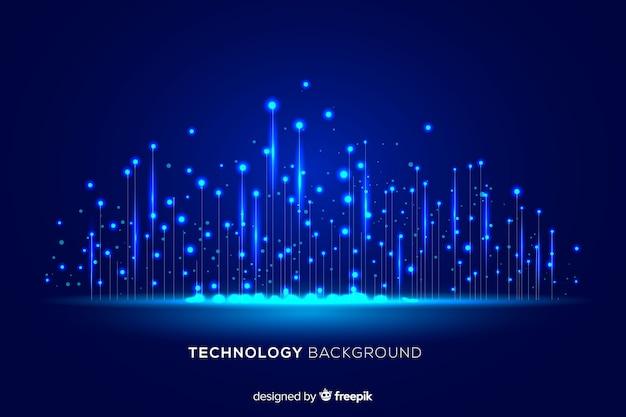 Cząsteczki światła technologicznego spadające w tle Darmowych Wektorów