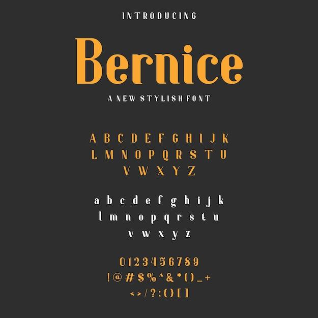 Czcionka Alfabetu Bernice Premium Wektorów