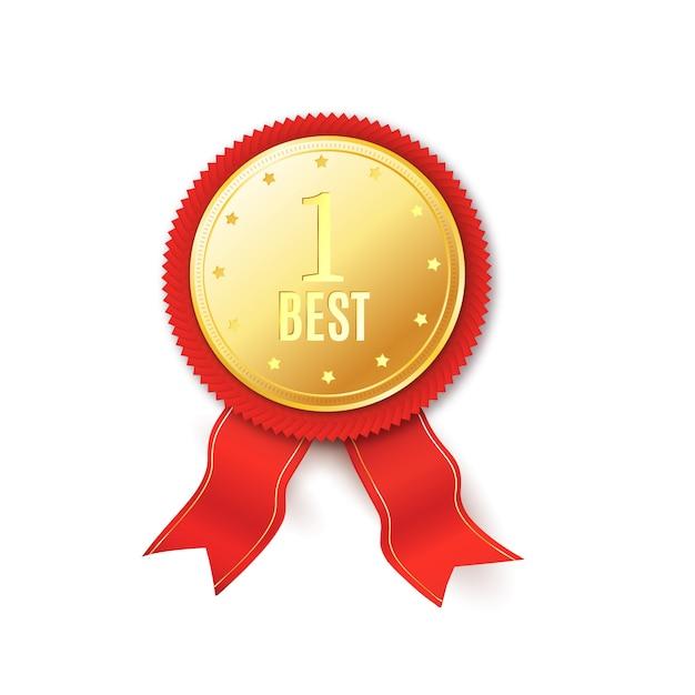 Czerwona rozeta najwyższej jakości Premium Wektorów