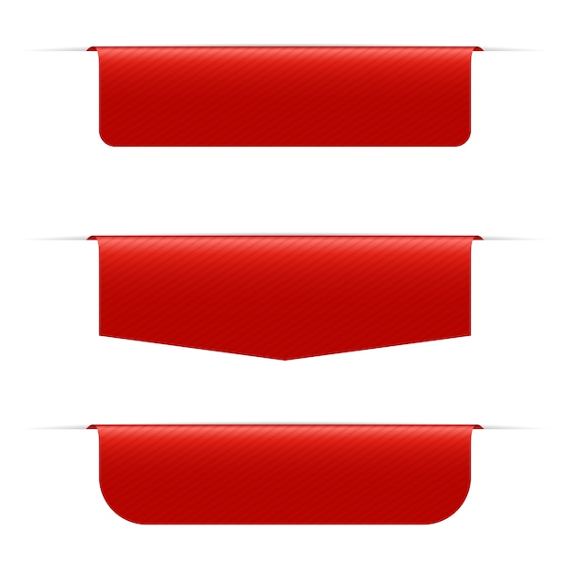 Czerwona Sztandar Ilustracja Na Białym Tle Premium Wektorów