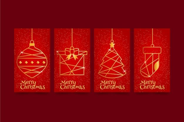 Czerwone I Złote Kartki świąteczne Darmowych Wektorów
