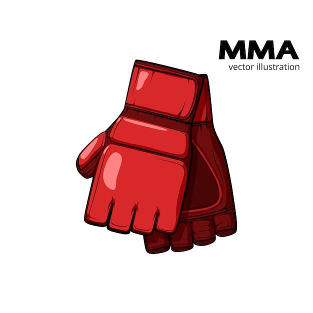 Czerwone Rękawiczki Mma Premium Wektorów