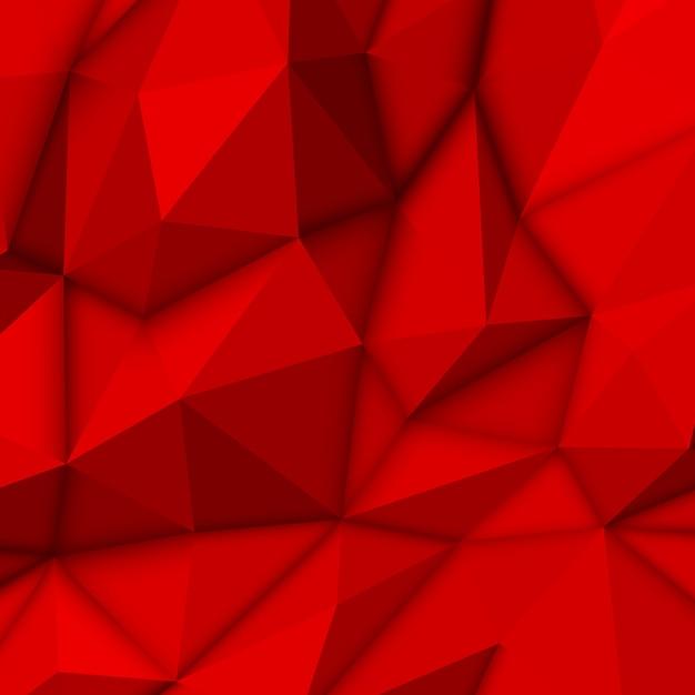 Czerwone tło wielokąta Premium Wektorów