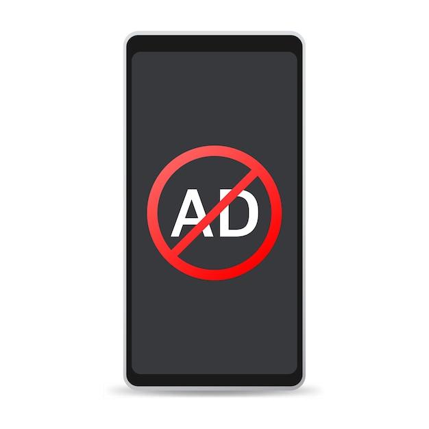 Czerwone Znaki Stop Na Telefonie Na Białym Tle Premium Wektorów