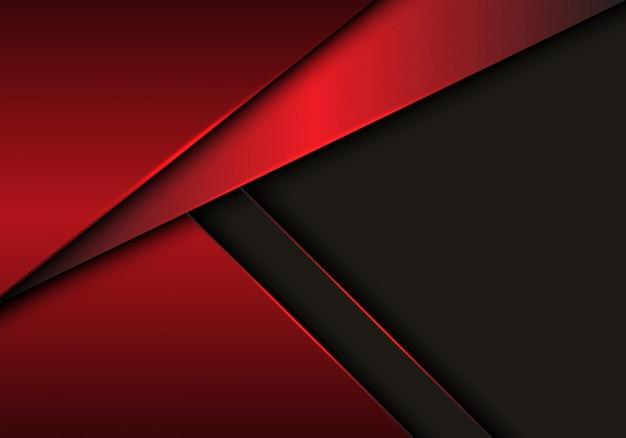 Czerwony kruszcowy nasunięcie na szarym pustej przestrzeni tle. Premium Wektorów