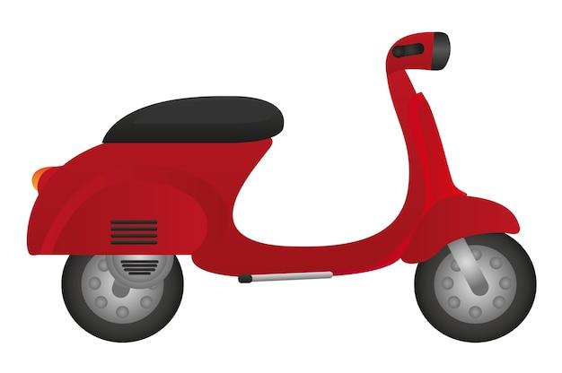 Czerwony Motocykl Samodzielnie Na Białym Tle Wektor Premium Wektorów