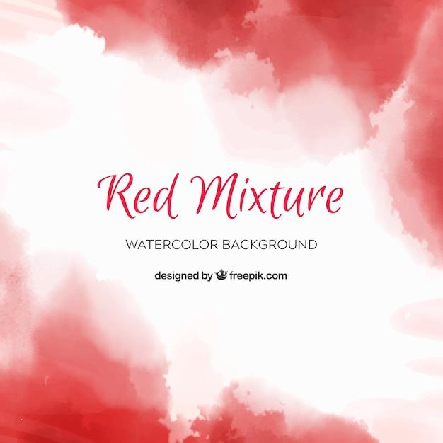 Czerwony streszczenie tło w stylu przypominającym akwarele Darmowych Wektorów