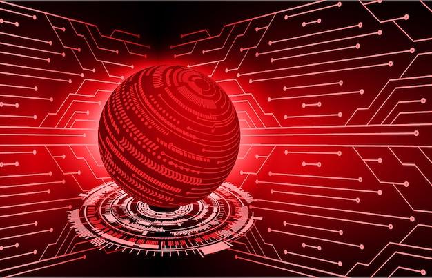 Czerwony świat cyber obwodu przyszłości technologii koncepcja tło Premium Wektorów