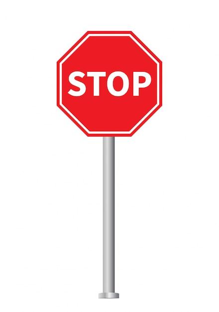 Czerwony Znak Stopu Premium Wektorów