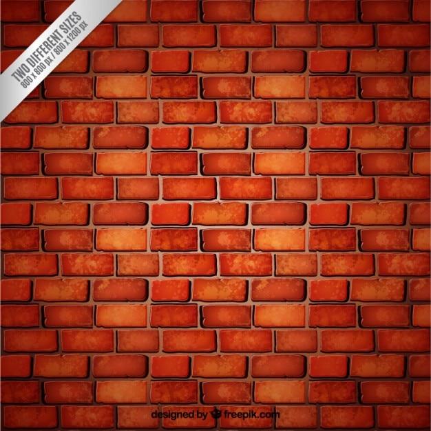 Czerwonym tle ceglanego muru Darmowych Wektorów