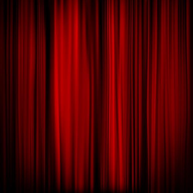 Część Czerwonej Zasłony - Ciemna. Premium Wektorów