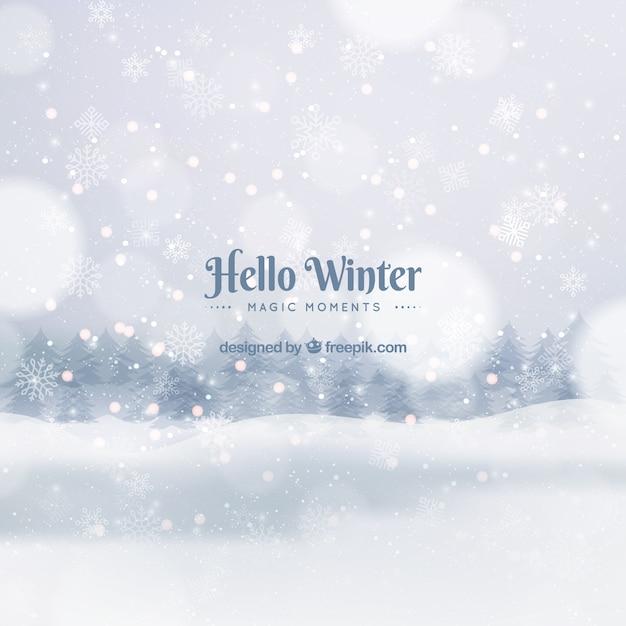 Cześć Zima, Magiczne Chwile Premium Wektorów