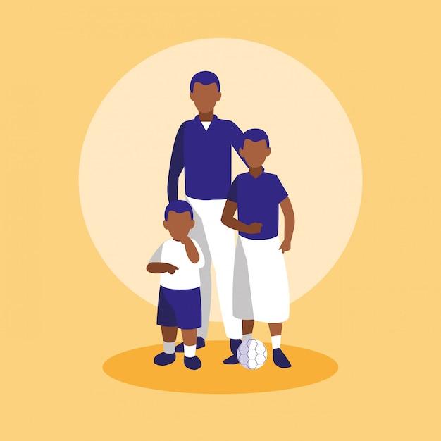 Członkowie Rodziny Razem Znaków Premium Wektorów