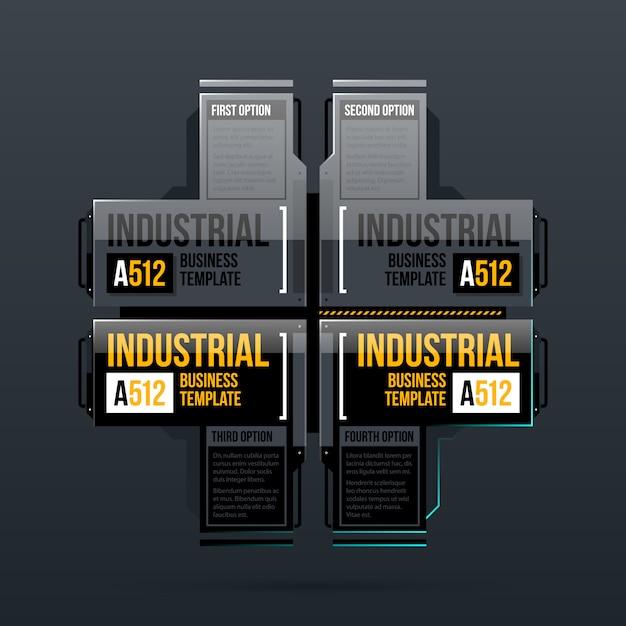 Cztery Opcje Szablon W Stylu Przemysłowym Premium Wektorów