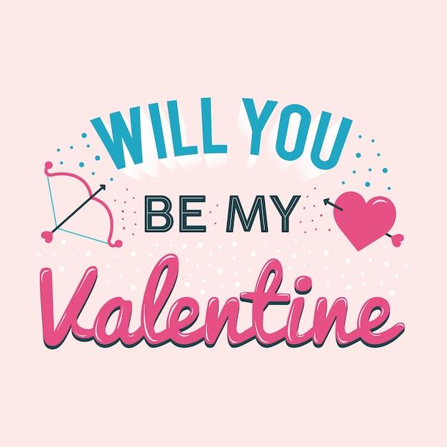 Czy Będziesz Moją Walentynką Premium Wektorów