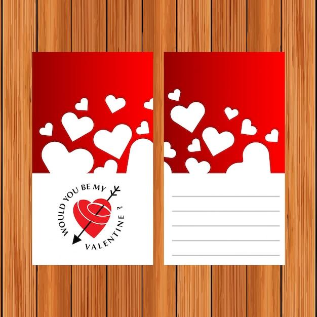 Czy Byłbyś Moją Kartą Walentynkową? Darmowych Wektorów