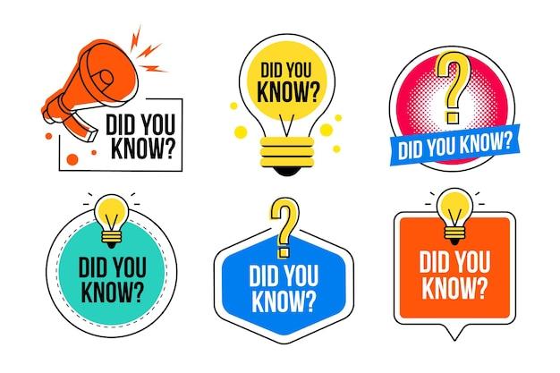 Czy Wiedziałeś...? Koncepcja Odznaki Premium Wektorów