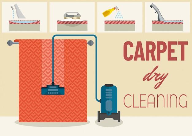 Czyszczenie dywanów Premium Wektorów