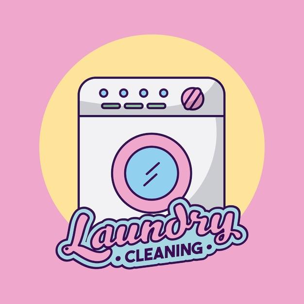 Czyszczenie pralki delikatne Premium Wektorów