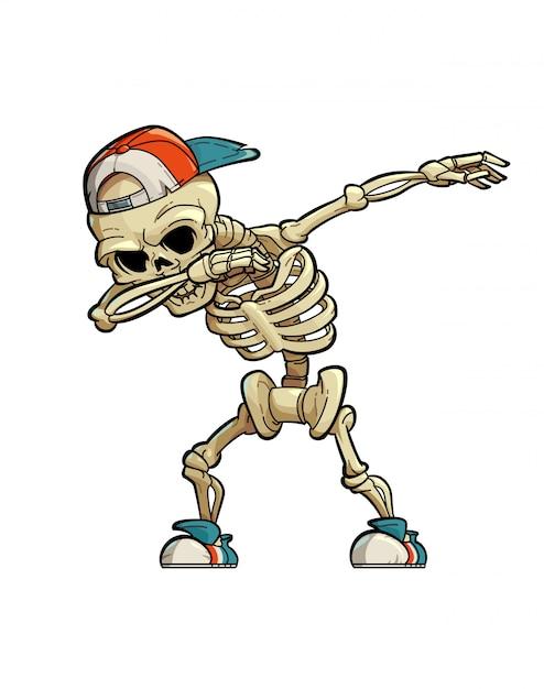 Dabbing skeleton Premium Wektorów