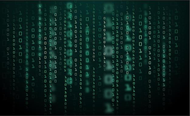 Dane Binarne I Kod Binarny Przesyłania Strumieniowego Premium Wektorów