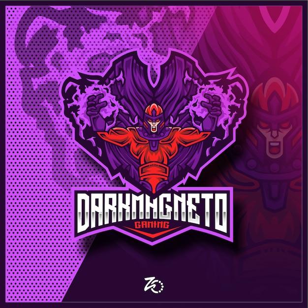 Dark Hero Magnet Gaming Esports Premium Wektorów