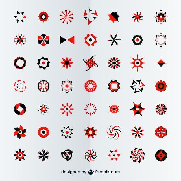 Darmo Wektor Abstrakcyjne Emblematy Darmowych Wektorów
