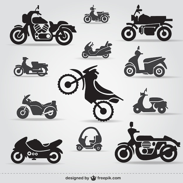 Darmowe Ikony Motocykl Darmowych Wektorów