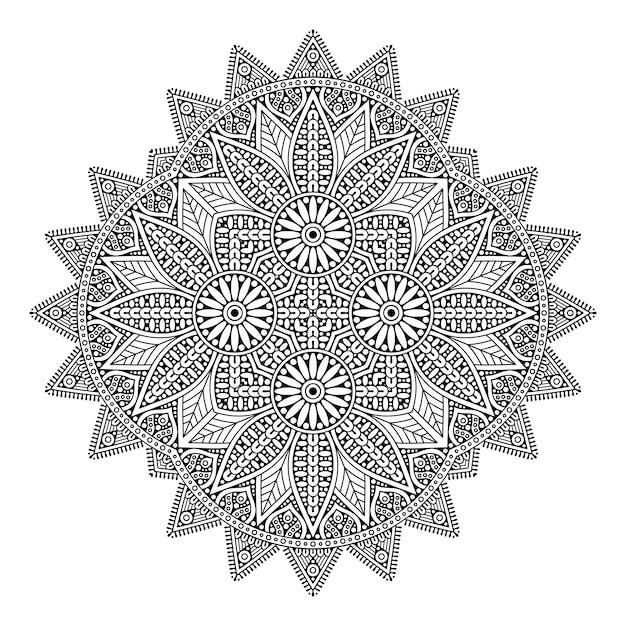 Dekoracyjna Geometryczna Dachówkowa Ręka Rysująca Ilustracja Premium Wektorów