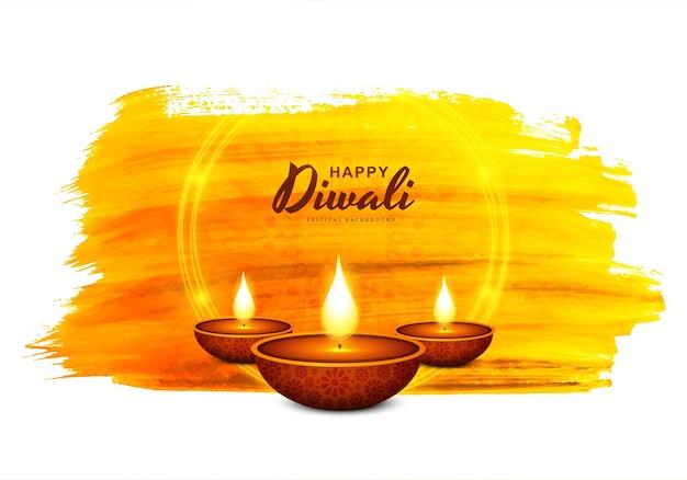 Dekoracyjna Lampa Naftowa Diwali Festiwal Celebracja Karta Tło Darmowych Wektorów