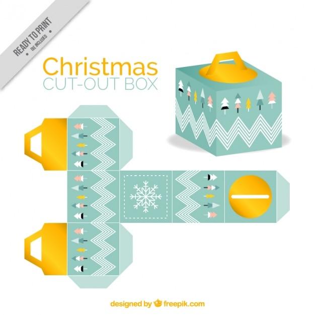 Dekoracyjne christmas box Darmowych Wektorów