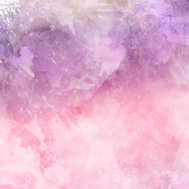 Dekoracyjne tło akwarela w odcieniach różu i fioletu Darmowych Wektorów