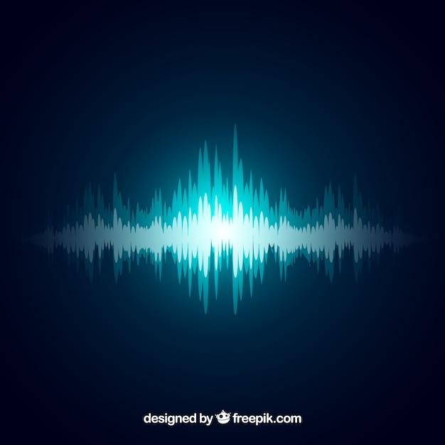 Dekoracyjne Tło Niebieski Fale Dźwiękowe Darmowych Wektorów