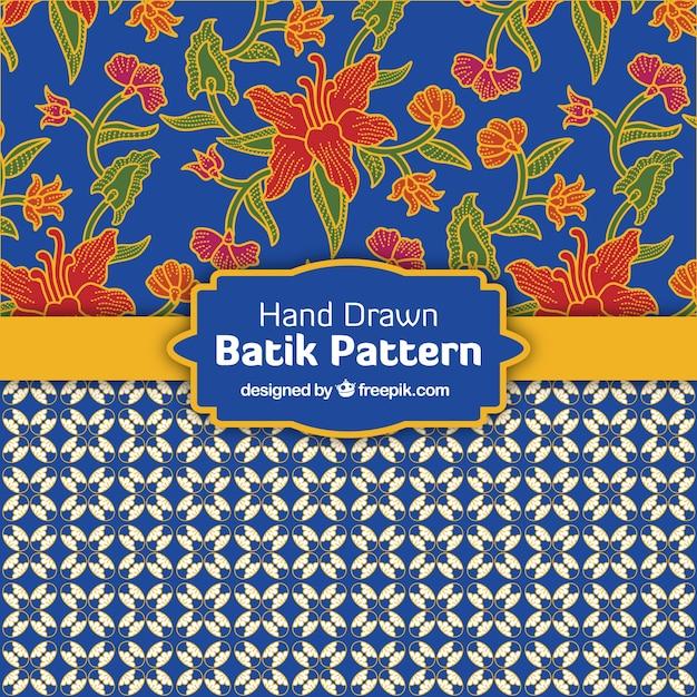 Dekoracyjne Wzory W Stylu Batik Darmowych Wektorów
