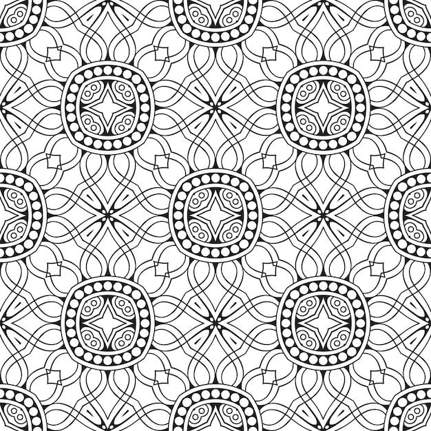 Dekoracyjny Wzór Geometryczny Płytki Premium Wektorów