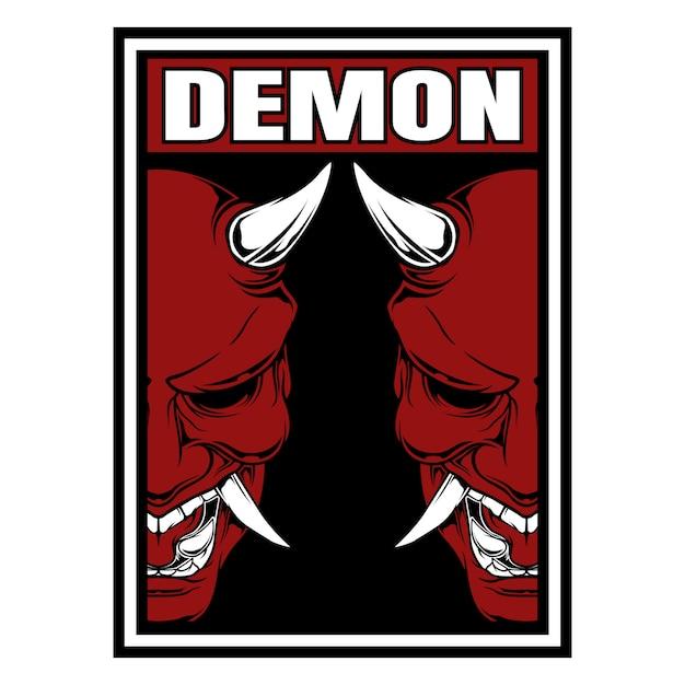Demon, potwór, satanistyczny. Premium Wektorów
