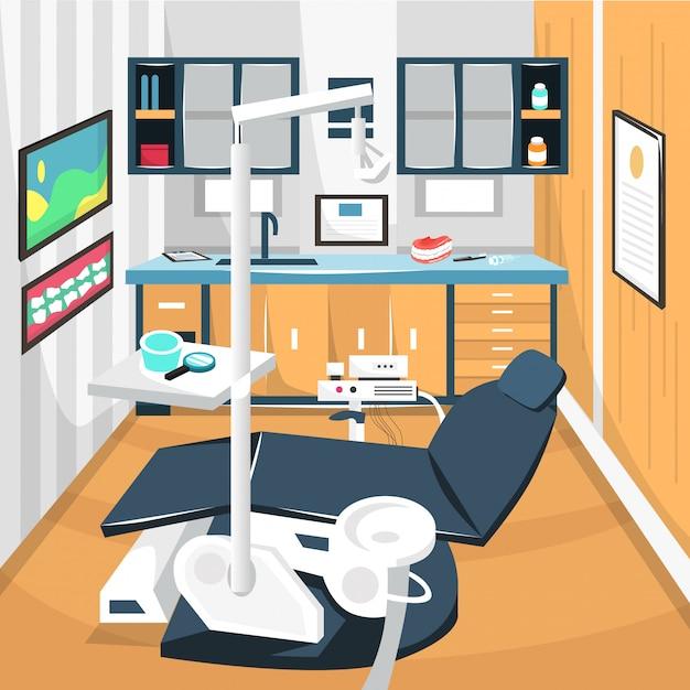 Dentist Room Dental Care Concept Hospital Premium Wektorów