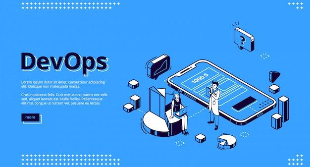 Devops, Strona Docelowa Operacji Programistycznych Darmowych Wektorów