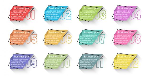 Diagram biznes i edukacja stosowane w różnych projektach edukacyjnych osób poszukujących wiedzy Premium Wektorów