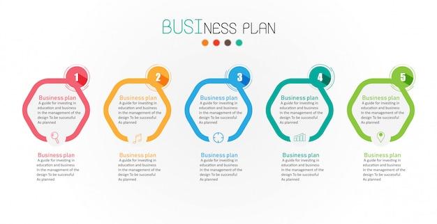 Diagram biznesu i edukaci wektoru ilustracja Premium Wektorów