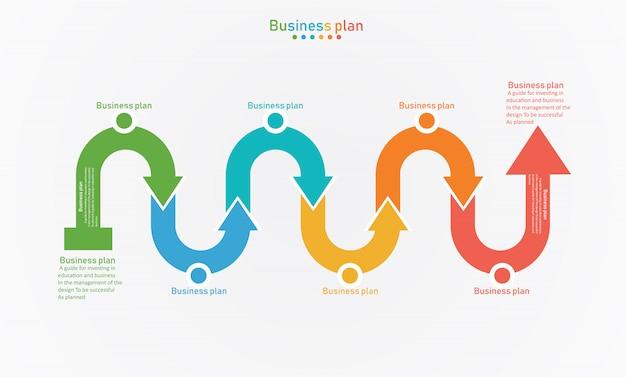 Diagram droga biznesu i edukacji wektorowych ilustracji Premium Wektorów