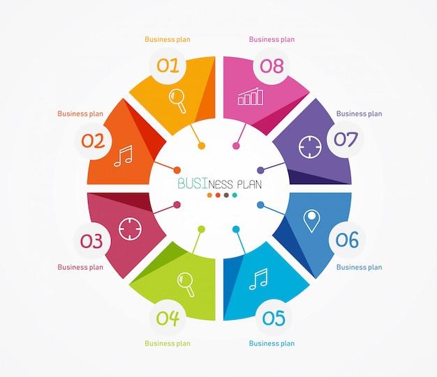 Diagram stosowany w edukacji i ilustracji wektorowych projektowania Premium Wektorów