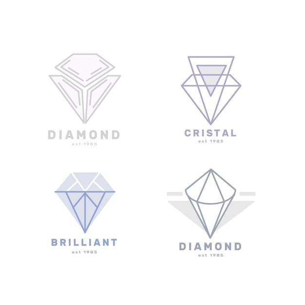 Diamentowe Logo Do Kolekcji Firmy Darmowych Wektorów
