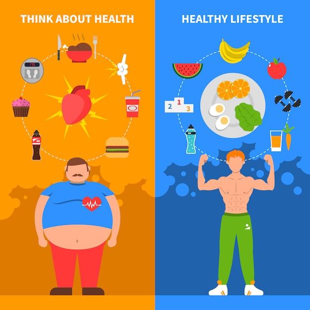Dieta pionowe banery Darmowych Wektorów
