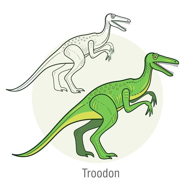 Dinozaur Velociraptor. Premium Wektorów