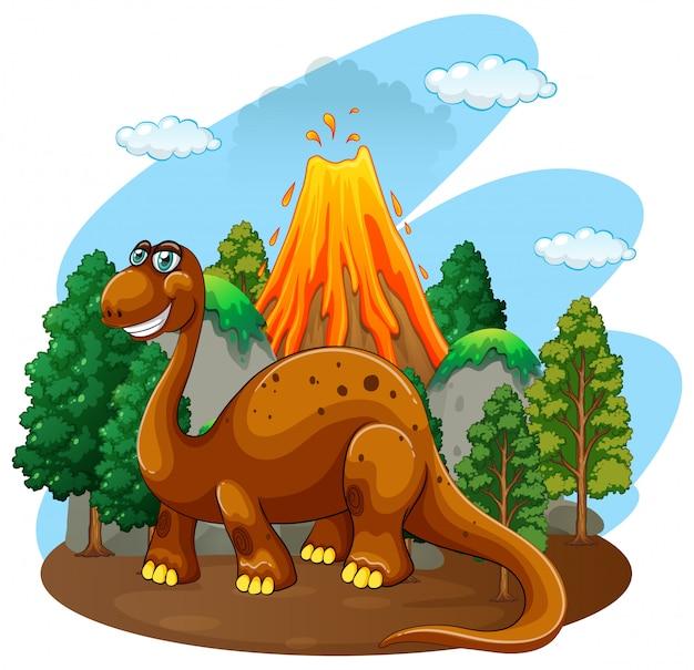 Dinozaur żyjący w dżungli Darmowych Wektorów