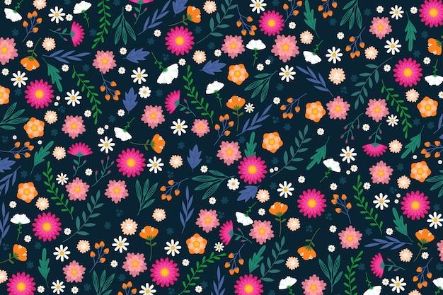 Ditsy tle kwiatów Darmowych Wektorów
