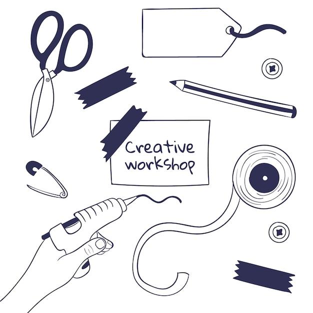 Diy Kreatywne Warsztaty Darmowych Wektorów