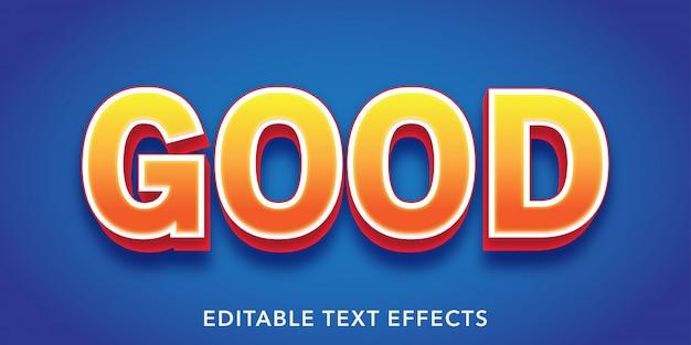 Dobry Edytowalny Efekt Tekstowy W Stylu 3d Premium Wektorów