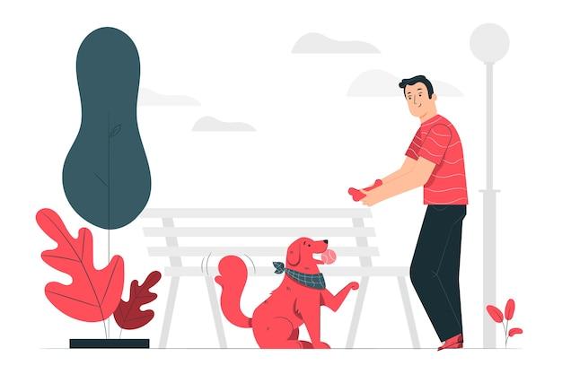 Dobry Ilustracja Koncepcja Piesek Darmowych Wektorów